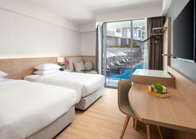 Pool View Room with Two Twin Beds